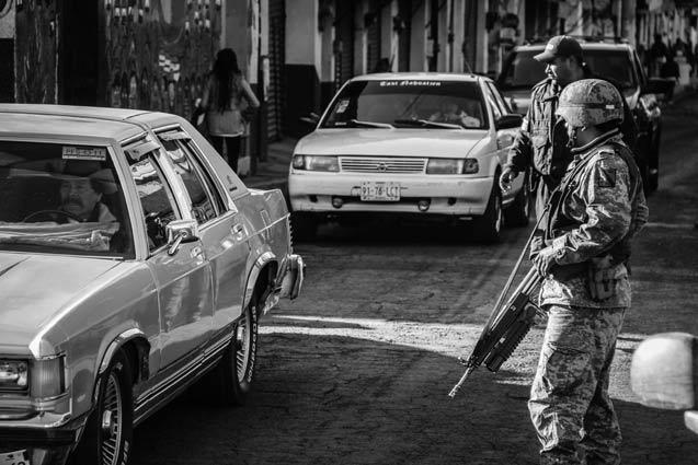 Mexican army in Cheran in Michoacan