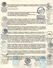 Statement of the Ayuujk people. // Pronunciamiento del pueblo Ayuujk.