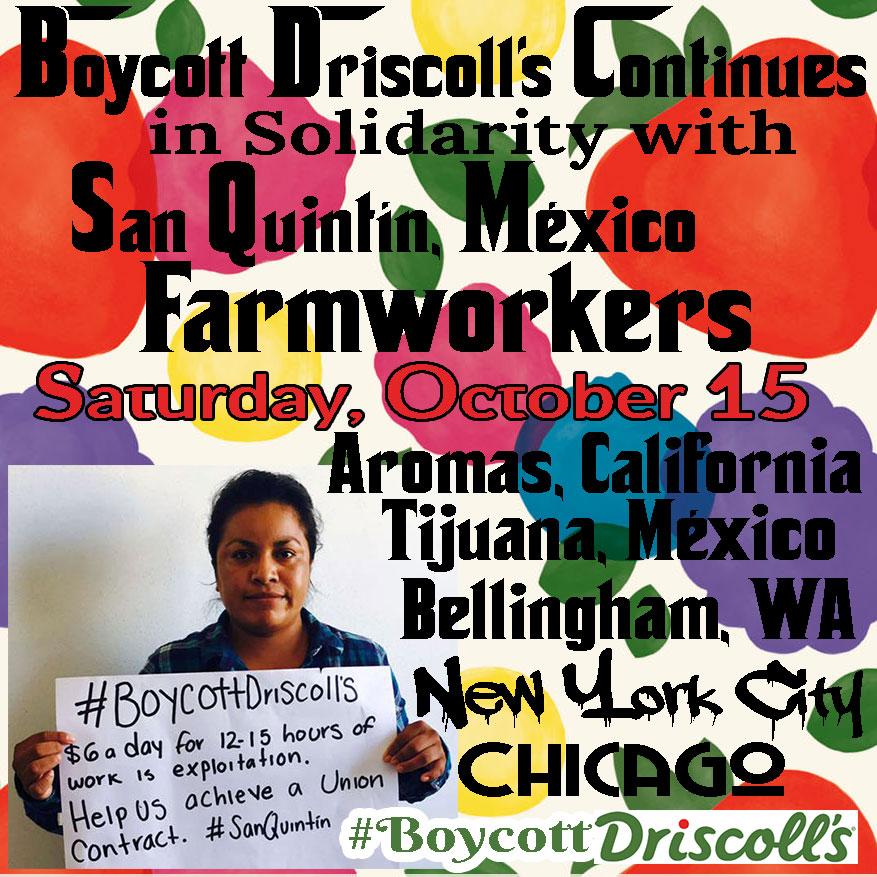 Boycott Driscoll's October 15, 2016