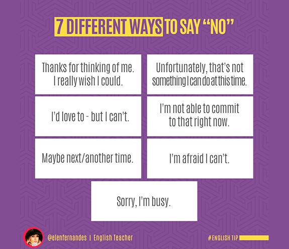 """BLOG NO - 7 Formas diferentes para dizer: """"NO"""""""