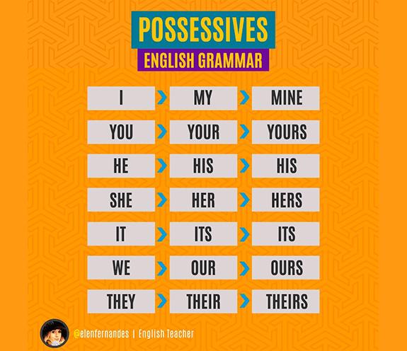BLOG POSSESSIVES - Como usar adjetivos e pronomes possessivos?