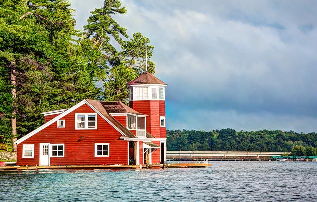 Boathouse on Lake Minocqua