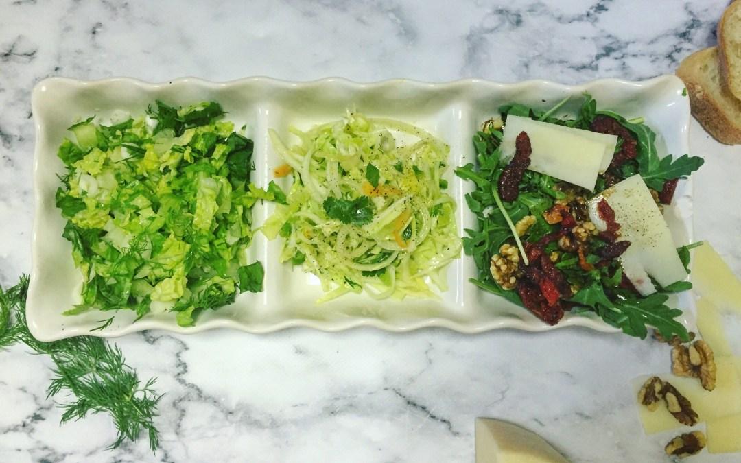 Three Green Salads