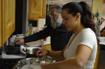 Eleni and Father Makarios