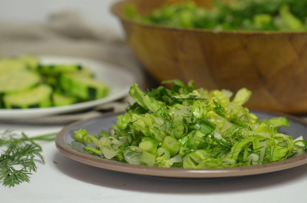 Maroulosalata (romaine lettuce salad)