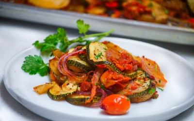 Simple Briam (Roasted vegetables)