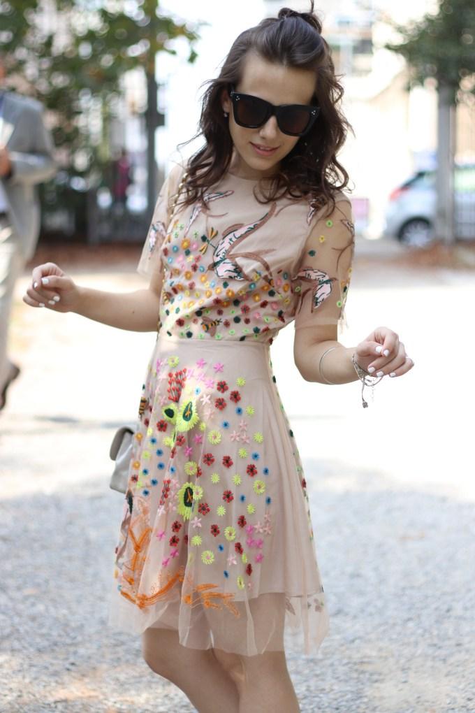 eleonora milano vestito fiorato dezzal