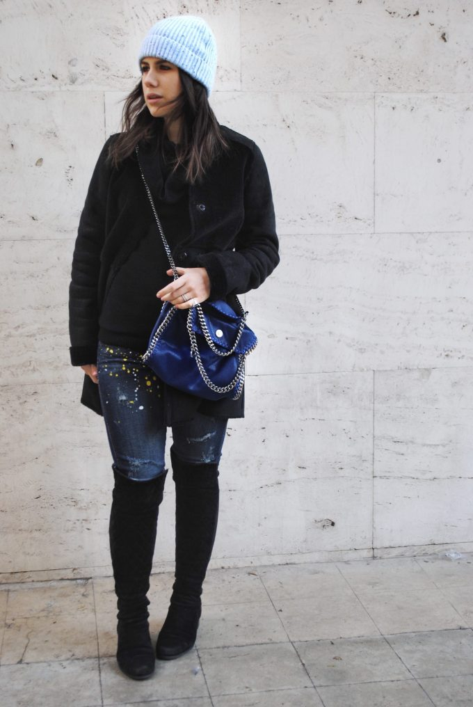 something navy falabella total look
