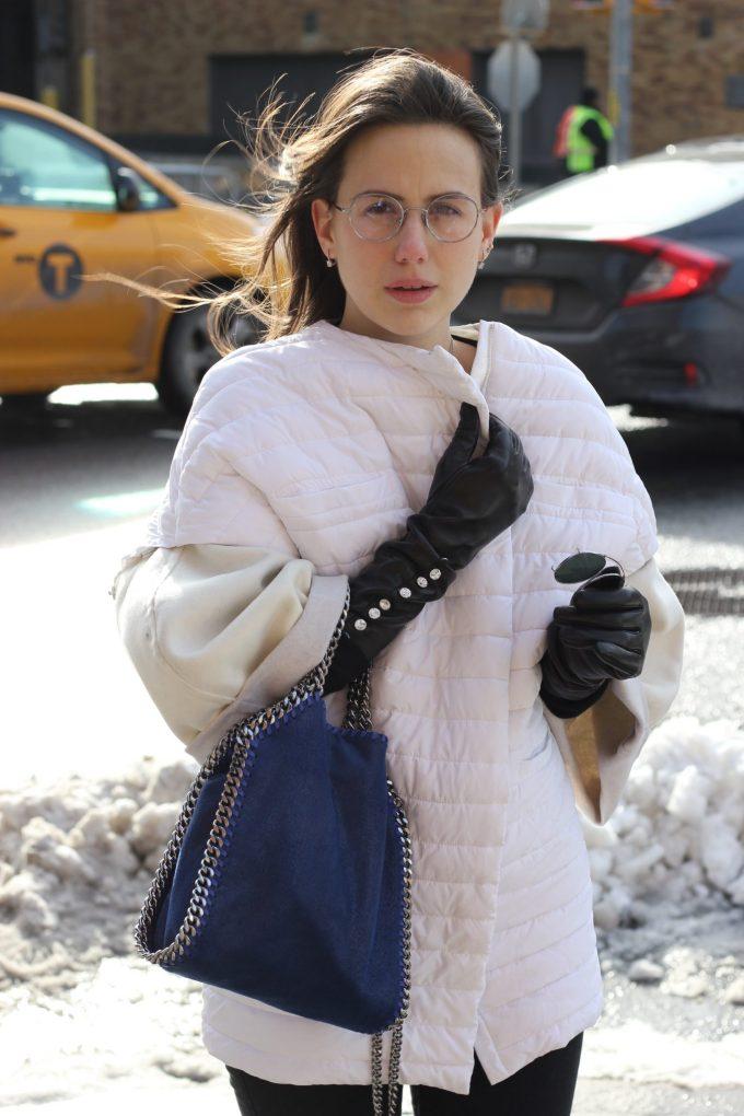 eleonora milano guanti neri in pelle antonella ferrante