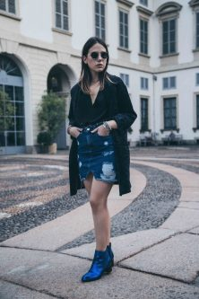 eleonora milano blog fashion blogger alexander hotto stivaletti biker boots metallizzati gonna jeans
