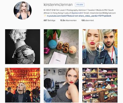 Instagram Profil Kirsten McLennan