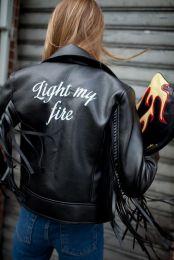 Custom embroidered jacket - Milan FW - wwd.com