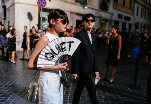 Valentino Couture Street Style- Leaf Greener - vogue.com
