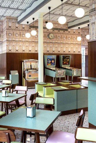 Fondation Prada - Wes Anderson - Pink terrazzo - Bar Luce - s-media-cache-ak0.pinimg.com