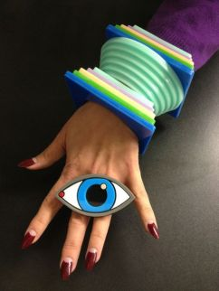 Yazbukey eye ring and tropical bracelets - pinterest.com