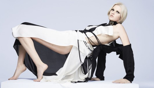 Lara Stone in Yohji Yamamoto - Fashion Editor Carine Roitfeld and photographs by Anthony Maule