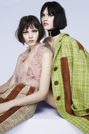 Tegan Desmond & Sarah Brannon in Miu Miu - Fashion Editor Carine Roitfeld and photographs by Anthony Maule