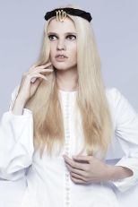 Lara Stone in Dior - Fashion Editor Carine Roitfeld and photographs by Anthony Maule