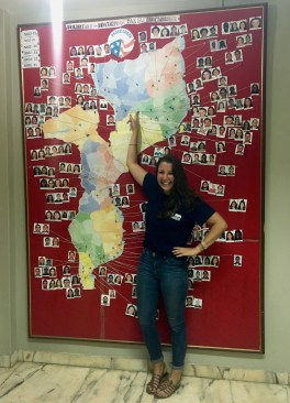 The famous volunteer map at the PC Maputo office.
