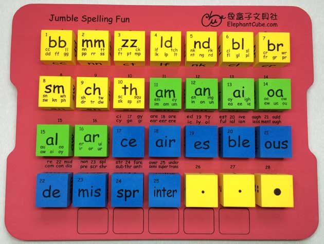 英文字母字群骰子 英語拼音拼字骰子