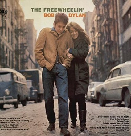 "Carátula de ""The Freewheelin'"" de Bob Dylan"