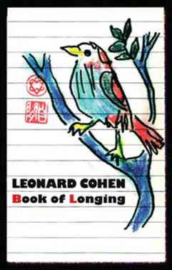 "Portada de ""Book of Longing"" de Leonard Cohen"