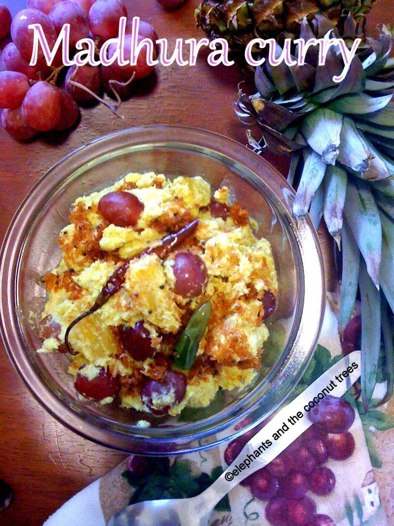 madhura curry / pineapple-grapes-sweet-pachadi