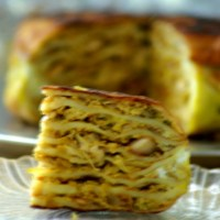 Athishaya pathiri / Atti pathiri / Layered Savoury Cake / Athishaya pathiri with step by step pictures / Kerala recipe