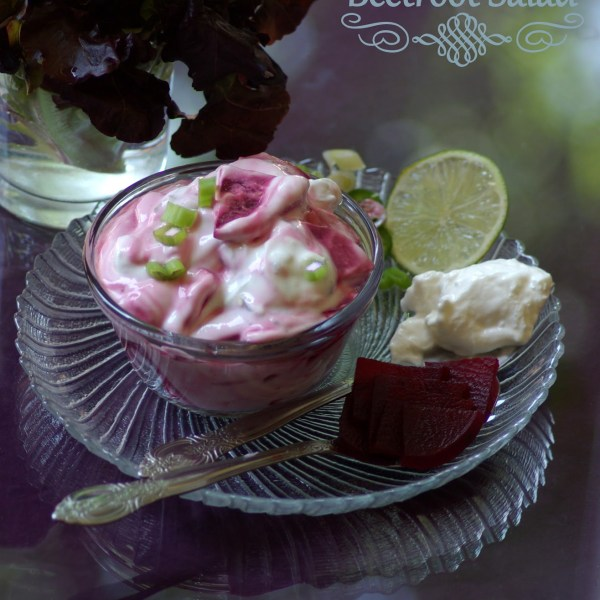 beetroot salad / beetroot raita