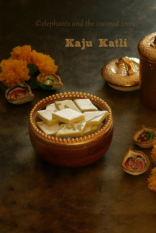 Kaju Katli / Cashew nut Burfi