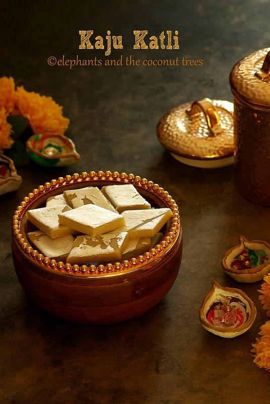 Kaju Katli also known as Cashew nut Burfi
