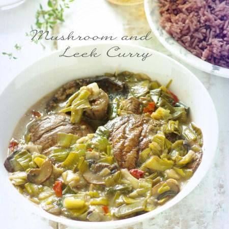 mushroom and leek curry