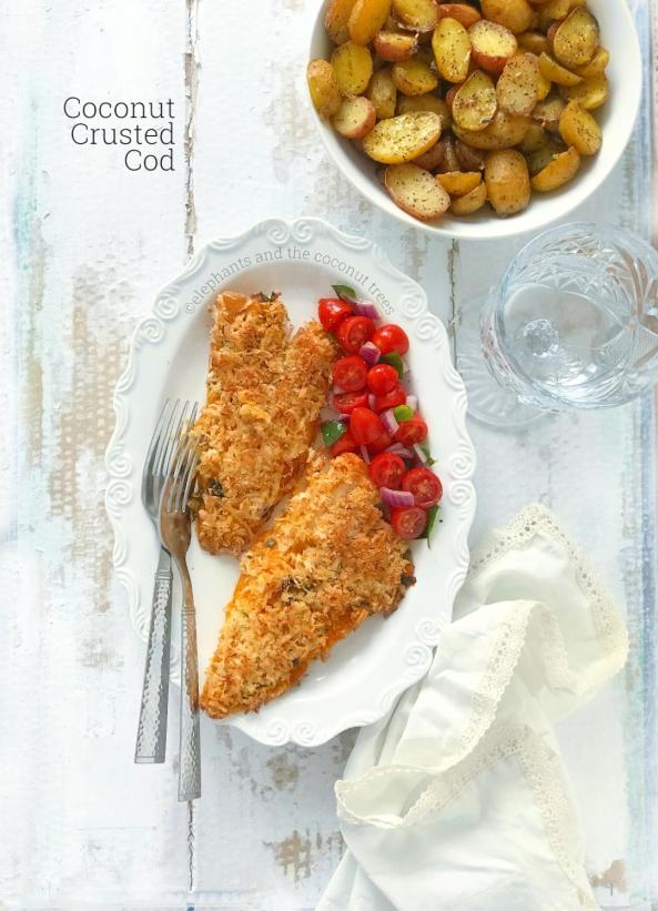 Coconut crusted cod fish 1