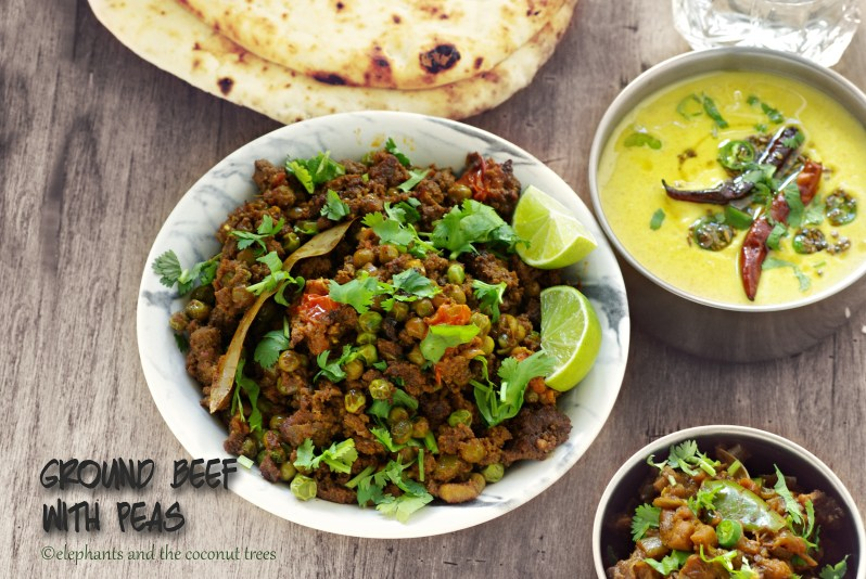 Ground beef with peas 1