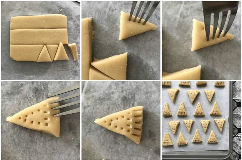 Christmas Shortbread Cookies steps ( made with real butter)