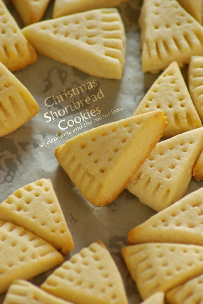 Christmas Shortbread Cookies made with real butter