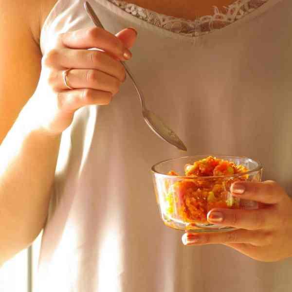 Carrot halwa in instant pot 2