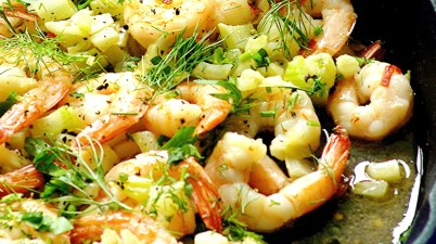 fennel and garlic shrimp