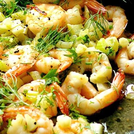 fennel and garlic shrimp