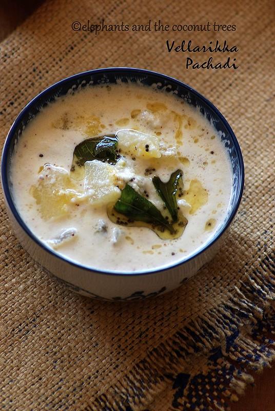 Vellarikka Pachadi / Kerala sadya cucumber pachadi,Vegetable curry recipes