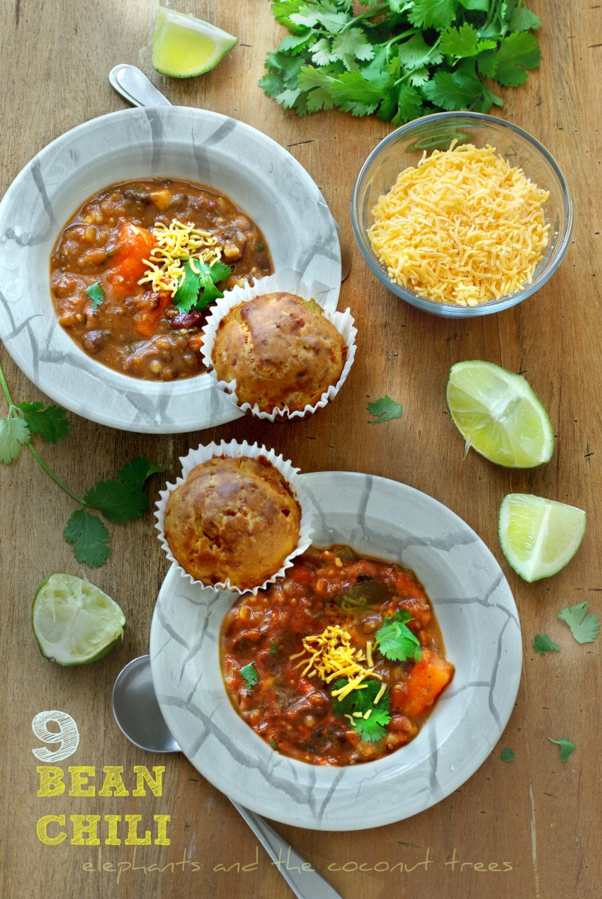 Best vegetarian chili with 9 beans