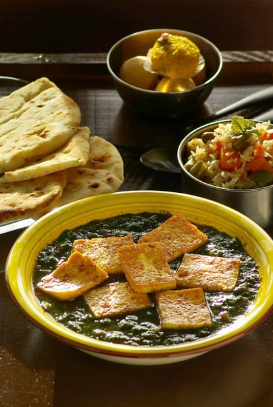 Tofu n Spinach curry, tofu palak,Vegetable curry recipes