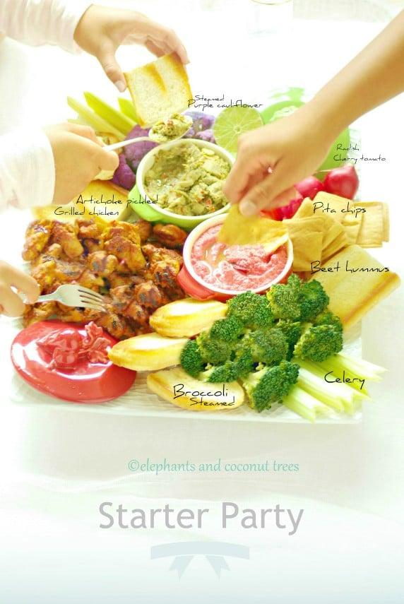 appetizer with artichoke