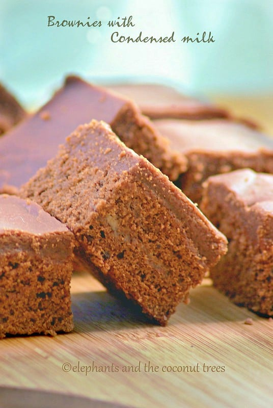 Brownies with condensed milk,Baked goods
