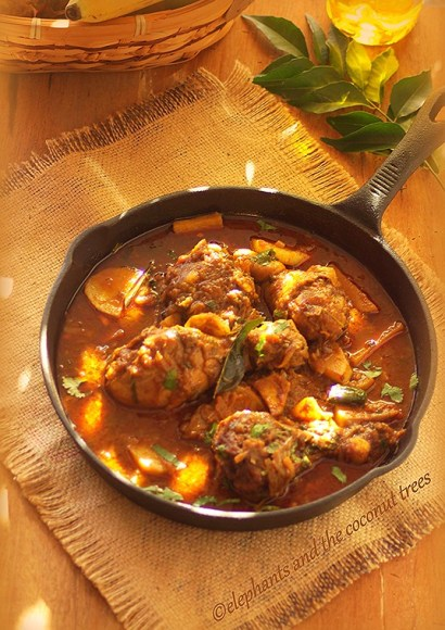 Thumbnail for Nadan Kozhi Curry / Kerala style chicken curry with potato