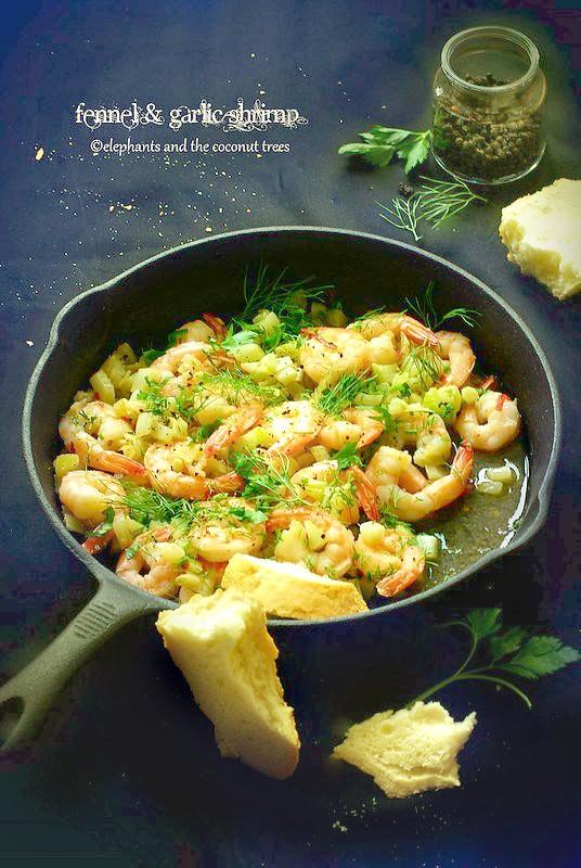 Fennel garlic shrimp