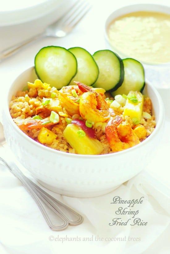 Pineapple n shrimp fried rice