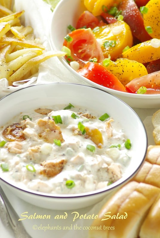 Salmon n potato salad. Ideal summer recipe