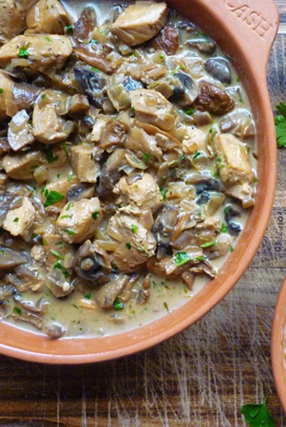 sherry chicken and mushroom casserole-recipe