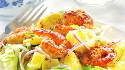 shrimp and pineapple salad